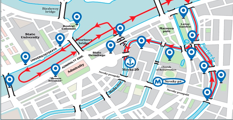 Boat Tour Route
